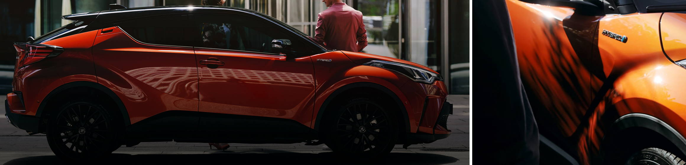 Der neue Toyota C-HR in orange